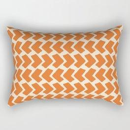 Orange Geometric Pattern Retro Print Rectangular Pillow
