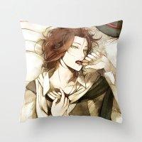macaron Throw Pillows featuring macaron by arriku