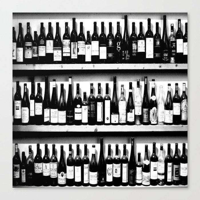 Wine Bottles in Black And White #decor #society6 #buyart Leinwanddruck