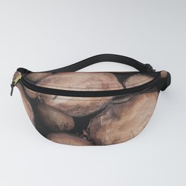 Wood Tree Ring Pattern Fanny Pack