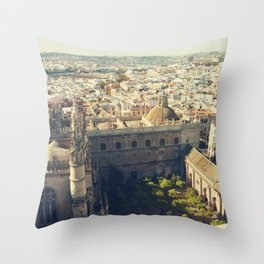 Seville - Skyline & Rooftops Throw Pillow