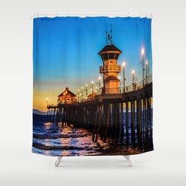 December Pier Shower Curtain