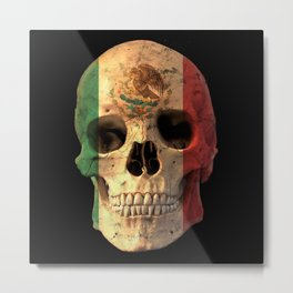 Mexican Flag Skull Design for Men and Women Metal Print