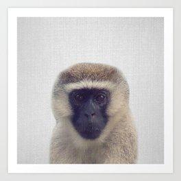 Monkey - Colorful Art Print