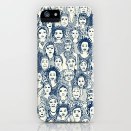 WOMEN OF THE WORLD BLUE iPhone Case