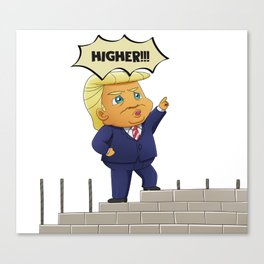 Donald Trump - Build The Wall Canvas Print