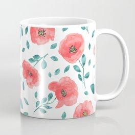 Watercolor poppy flowers Coffee Mug