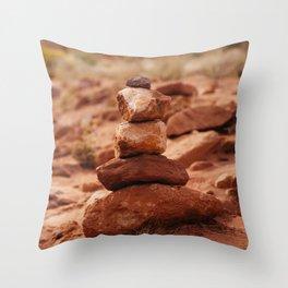 Desert Cairn Throw Pillow