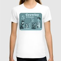 crowley T-shirts featuring Crowley & Friends - Supernatural by Justyna Rerak