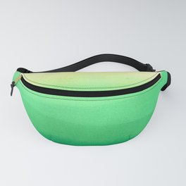 Dip dye background in shades of green Fanny Pack