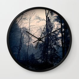 A Foggy Day Wall Clock