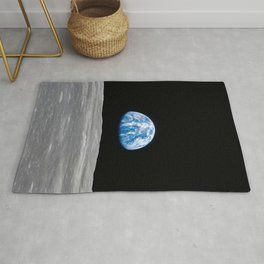 Earth Rising, Galaxy Background, Universe Large Print, Space Wall Art Decor, Deep Space Poster Decor Rug