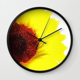 Sunflower Abstract Wall Clock