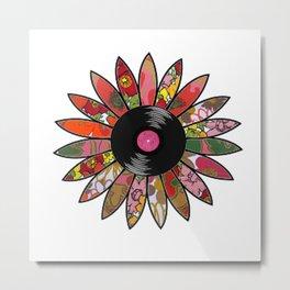 Retro Vinyl Flower Metal Print