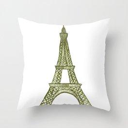 Eiffel tower GOLD / La tour Eiffel - PAINTED Throw Pillow