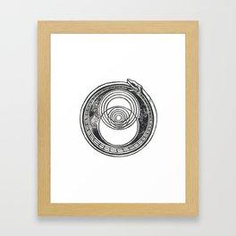 Space-Time Atom Framed Art Print