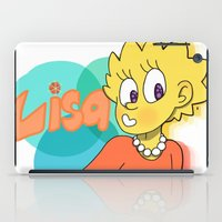 simpson iPad Cases featuring Lisa Simpson by Burgandy Balloons