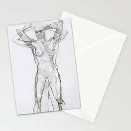 Female/Male Nude Study II Stationery Cards
