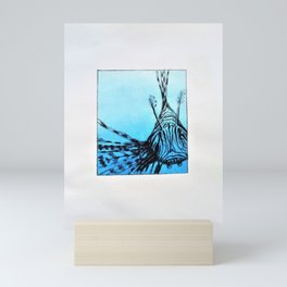 The deep blue Mini Art Print
