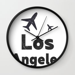 Los Angeles minimal Wall Clock