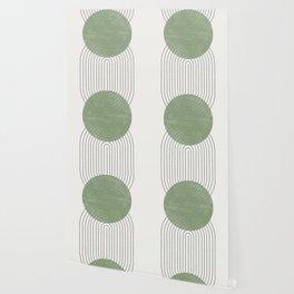 Green Moon Shape Wallpaper