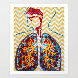 Happy and Nicotine Free Art Print