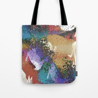 australia Tote Bags featuring Australia by Art Dissolution