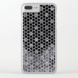 Tiles in black and white Clear iPhone Case