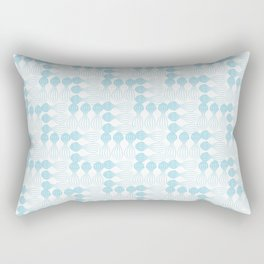 Teal pear curvy funny shaped lines pattern Rectangular Pillow