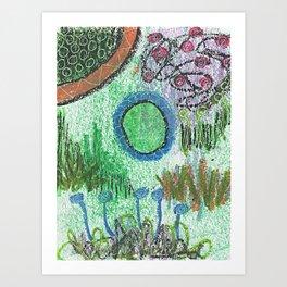 The Blues Garden Art Print