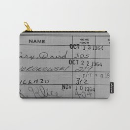 Library Card 23322 Gray Carry-All Pouch