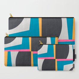 Modern Geometric 65 Blue Carry-All Pouch