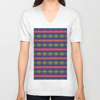 neon V-neck T-shirts featuring Neon by EFD_