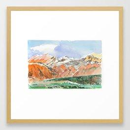 Mountains, Kyrgyzstan Framed Art Print