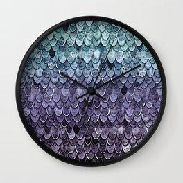MAGIC MERMAID - MYSTIC TEAL-PURPLE Wall Clock