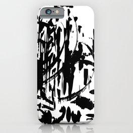 Abstract Black and White, Ink, Line Art iPhone Case