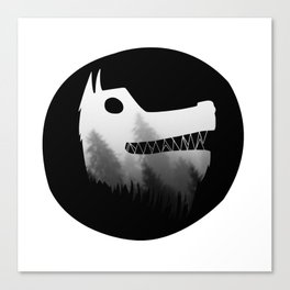 Soul wolf ( dark ) Canvas Print