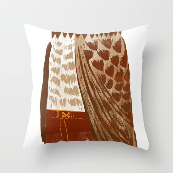 Hip Hop Owl Throw Pillow