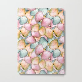 Baltic Clam (Macoma balthica) Pattern Metal Print