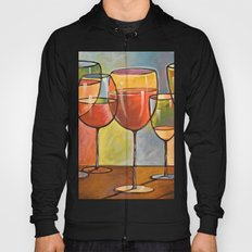 Whites and Reds ... abstract wine art Hoody