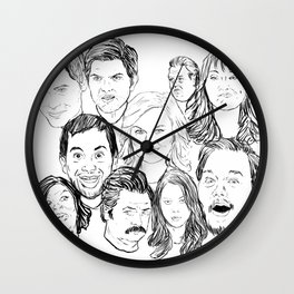 Parks and Recreation 'Rec a Sketch' Wall Clock