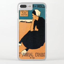 1895 Boston, Holland water color art expo Clear iPhone Case