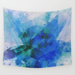 Precipice in Blue XXI Wall Tapestry