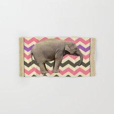 Retro elephant Hand & Bath Towel