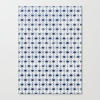 indigo Canvas Prints featuring INDIGO by KIND OF STYLE