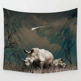Rhino star Wall Tapestry