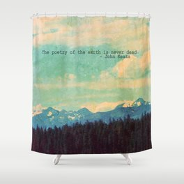 The Poetry of the Earth Shower Curtain