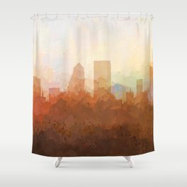 Jacksonville, Florida Skyline - In the Clouds Shower Curtain
