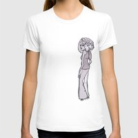 70s T-shirts featuring 70s Girl by Erica Evans Design