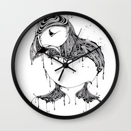 Hawt Puffin Wall Clock
